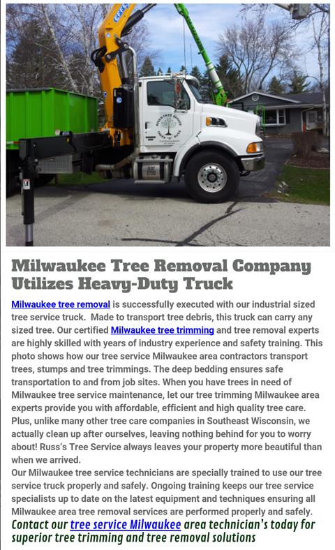Russ's Tree Service - Tree Service - Muskego, WI - Thumb 5